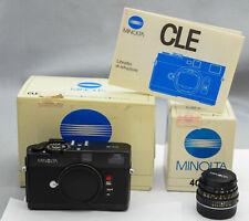 Minolta CLE + M-Rokkor 40mm 1:2 Mint Condition eccezionale all working