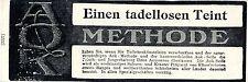 Tadelloser Teint AOK- SEIFE Historische Reklame von 1907