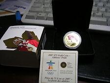 2007 CANADA 2010 OLYMPICS $75 PROOF GOLD Athletes Waiving Canadian Flag BOX COA