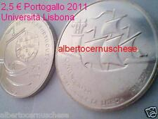 2,5 euro 2011 Portogallo Portugal 100 universidad Lisbona Lisboa Португалия