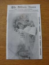 02/09/1905 West Bromwich Albion v Burnley [Glossy Reproduction by Britespot Publ