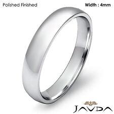 4mm Classic Wedding Ring Platinum Dome Shape Light Comfort Men's Band 6.3g 9-9.5