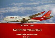 Hogan Wings 1:500 Boeing 747-400 OASIS HONGKONG B-LFA LI8706  Modellairport500