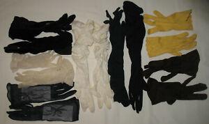 Vintage lot of 7 Pairs Assorted Ladies Formal Dress Gloves