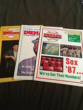 3 Red Sox Diehard Magazine, 4/88, Lee Smith, 12/87, Numbers; 1/88 Brady Anderson