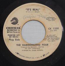 The Harmonizing Four 45rpm Checker CK 1250 It's Real/One God Gospel Soul Funk