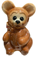 "ROYAL COPLEY Teddy Bear Vase Planter Adorable Collectible Porcelain 6-3/8"" Tall"