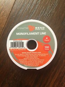 South Bend Monofilament Fishing Line 4 Lb Test 100 Yds Clear
