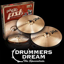 "Paiste PST 5 Universal Cymbal Pack Set - 14"" Medium Hats, 16"" Crash, 20"" Ride"