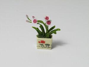 IDM Dollhouse Miniature 1:12 Scale *Flower Arrangement*  Pink White