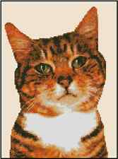 Calico Cat Portrait Counted Cross Stitch Chart #16-100