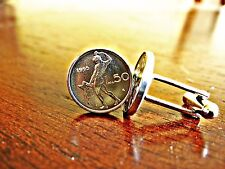 Italian 50 Lire Naked Blacksmith Coin Cufflinks
