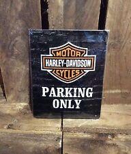 Harley Davidson Parking only. medium Vintage Retro Tin Signs. Motorcycles