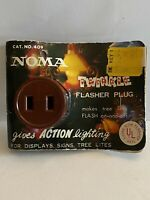 Vintage Noma-World Wide Christmas light Flasher Plug twinkle blinker Bakelite