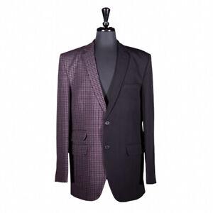 Men's Blazer Black Check Handmade Jacket Wedding Sport Coat Designer Italy 42R