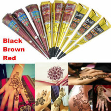 3 BLACK+ 3 KAVERI +3 RED HENNA CONES Temporary Tattoo + Free 1 Bindi
