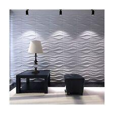 Art3d Decorative 3D Wavy Wall Panel Design Pack of 12 Tiles 32 Sq Ft (Plant F...