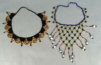 2pc Vintage Necklace Glass Beaded