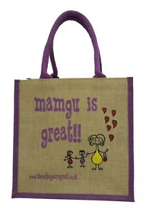 Mamgu is Great Jute Shopper from These Bags Are Great - Good size bag Welsh Gift