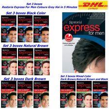 3 boxes Restoria Express For Men Restoring Hair Dye Cover Grey Hair Color Cream