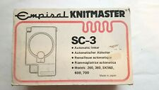 SILVER REED KNITMASTER KNITTING MACHINE 4.5MM GAUGE SC3 AUTOMATIC LINKER BOXED