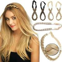 Ladies Girls Braided Synthetic Hair Plaited Plait Elastic Headband Hairband