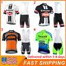 2021 NEW Team Cycling Short Sleeve Jersey And Bib Shorts Set Mens Cycling Jersey