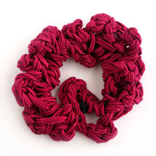 Fucshia Red Hair Scrunchie Hair Tie Ponytail Elastic made of Polyester Cord