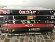 Horror Dvd lot Childs Play Texas Chainsaw Massacre Evil Dead 2 Nightmare Elm St.