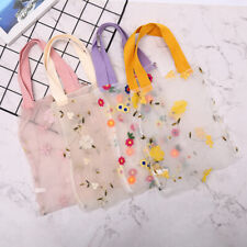 Organza Women's Handbag Embroidery Translucent Shopping Bag Portable Tote P Sqi4