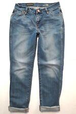 J Crew size 26 Broken in Boyfriend crop Light blue wash Mid rise Womens jeans