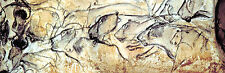 CHAUVET CAVE ART MURAL HUGE 72x24 Repro Neolithic Artwork 32,000 yrs old!