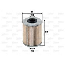 Kraftstofffilter - Valeo 587907