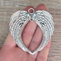 1pcs Huge Angel Wings Charm Tibetan Silver Tone Pendant Charms Pendants