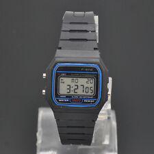 Multifonctionnel Homme Noir Silicone Sport Numérique LED montre Bracelet 1PCS