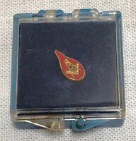 "Vintage Masonic ""Red Tear Drop"" Pin Pre Owned Freemasonry Masonry Master Mason P"