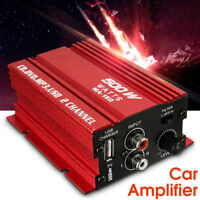 EG _ 500W 12V Mini 2CH HIFI STEREO AUDIO ENDSTUFE AUTO MP3 Lautsprecher