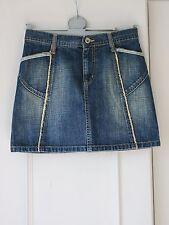 M&S Per Una Ladies Denim Mini Skirt - Size 8 - Seam Details