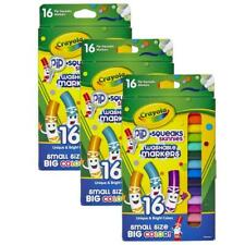 (LOT OF 3) Crayola Pip-Squeaks Skinnies Washable Markers, 16 per pack