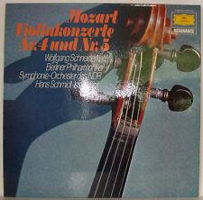 MOZART VIOLINKONZERTE NR. 4 & 5 WOLFGANG SCHNEIDERHAN SCHMIDT-ISSERSTEDT LP f373