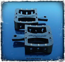 Black SGS Primo Deluxe Foot Pegs For Harley-Davidson
