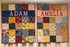 """Personalised """"I SPY"""" Patchwork Baby Quilt -Any Name - Boy/Girl/Baby/Nursery/Gift"""