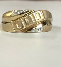 10k Yellow Gold, DAD Ring Men's Fine Jewelry Great Gift