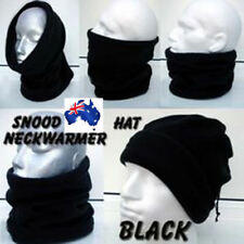 Winter Warm Fleece Snood Scarf Neck Warmer Beanie Hat Ski Balaclava Black