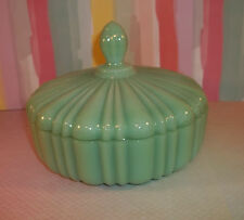 Vintage Anchor Hocking FIRE KING JADE-ITE Covered Candy Dish K202