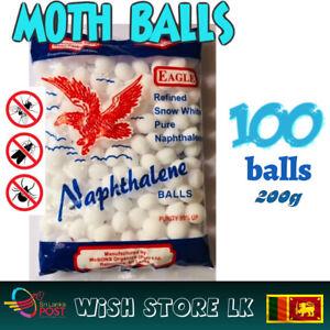 100 Napthalene Balls Pest Control MOTHBALLS Repellent Camphor Balls 100% Quality