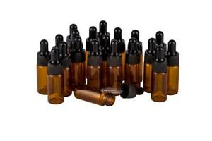 Glass Eye Dropper Bottle 10ml Amber Essential Oil Aromatherapy Pack of 20