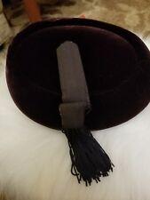 Chic Blackberry Velvet Circa 50's Vintage ladies Hat