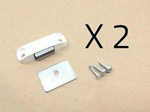 (2) HUNTER DOUGLAS WHM60126 MAGNETIC ASSY BRANDED KIT IN WHITE