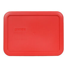 Pyrex 7210-PC Red 3 Cup Rectangle Plastic Storage Lid for Glass Dish New